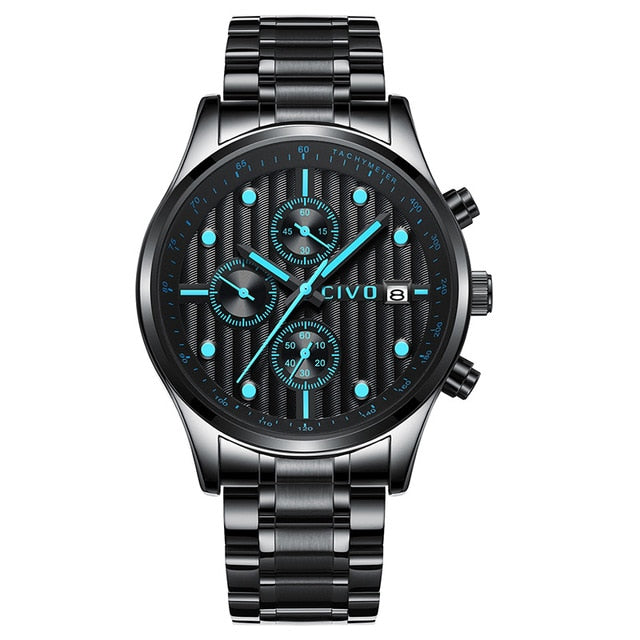 0034C | Quartz Men Watch | Stainless Steel Band-megalith watch