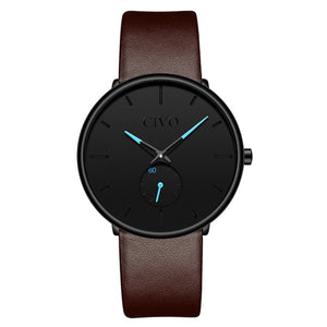 0124C | Quartz Men Watch | Leather Band-megalith watch