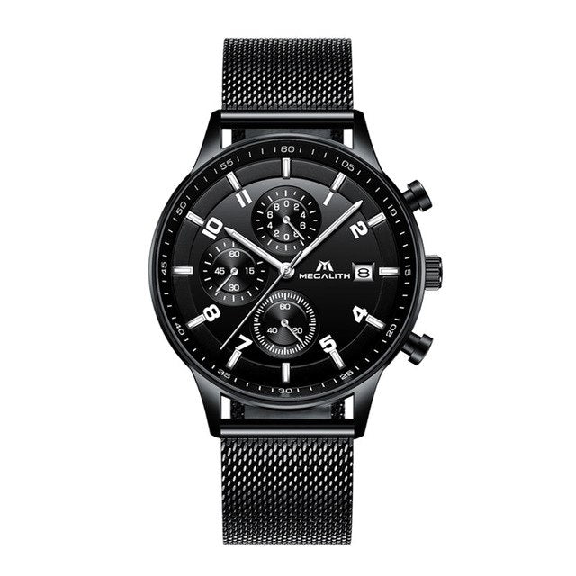 8003M | Quartz Men Watch | Mesh Band-megalith watch