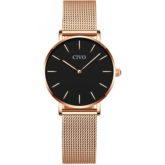 8084C | Quartz Women Watch | Mesh Band-megalith watch