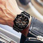 Load image into Gallery viewer, 8007M | Quartz Men Watch | Stainless Steel Band-megalith watch