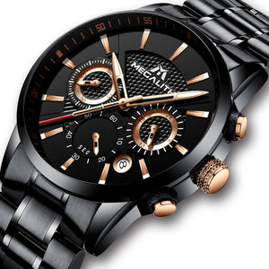 8007M | Quartz Men Watch | Stainless Steel Band-megalith watch