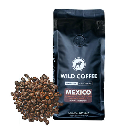 Mexico Dark Roast Coffee Beans Single-Origin, Organic - Wild Foods