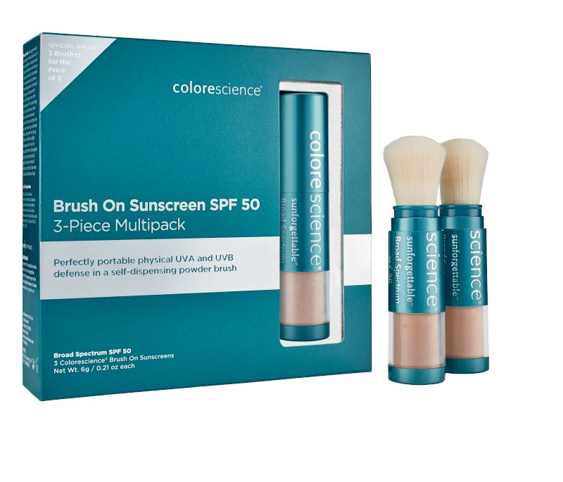 COLORESCIENCE ENVIROSCREEN™ PROTECTION BRUSH-ON MULTI-PACK: 3 BRUSHES SPF 50 SPF Colorescience 3 x 6 g Medium