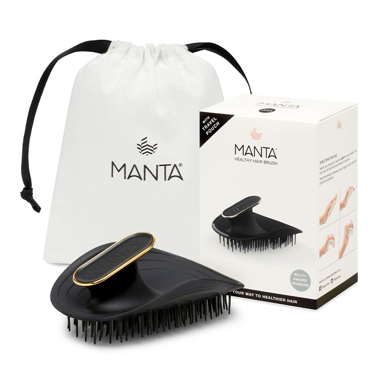 MANTA HAIR BRUSH - black - LOSHEN & CREM