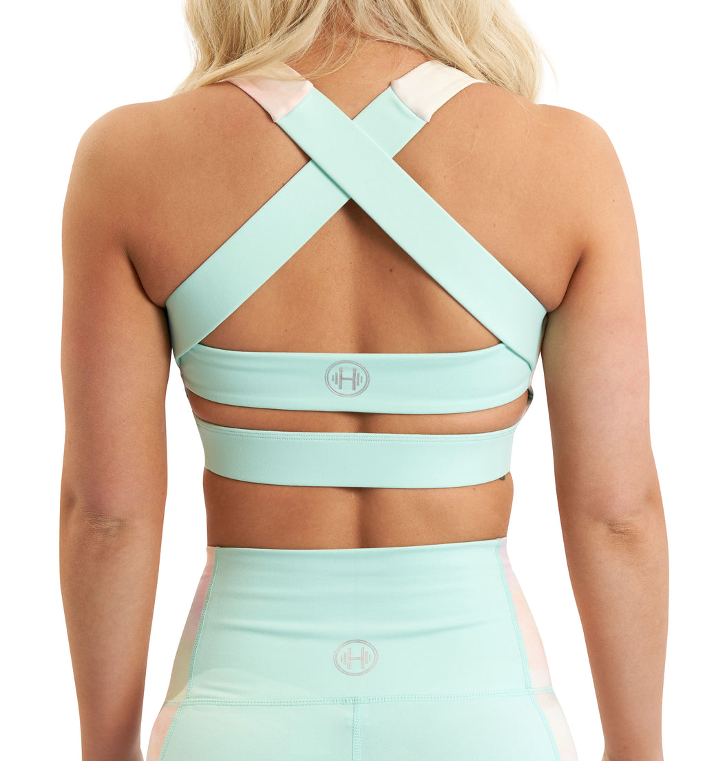 TUTTI-FRUTTI MINT SPORTS BRA