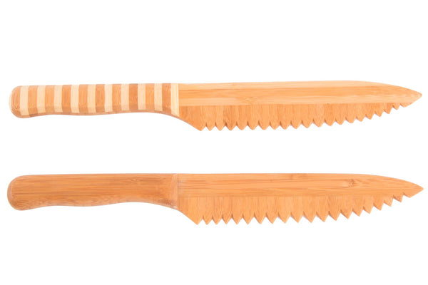 Cuchillo Bambu Pan Natural 2 Surt.