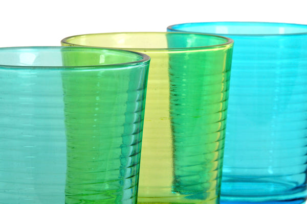 Vaso Set 6 Cristal 420 Ml. 3 Surt.