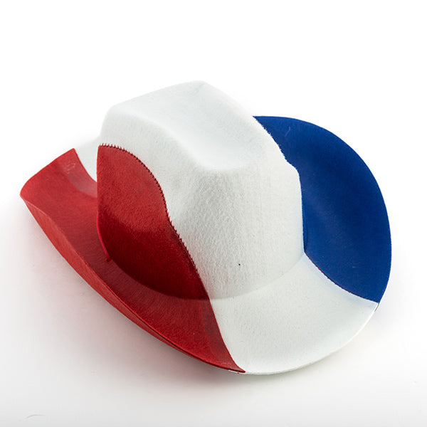 Sombrero de Cowboy Bandera de Francia Th3 Party