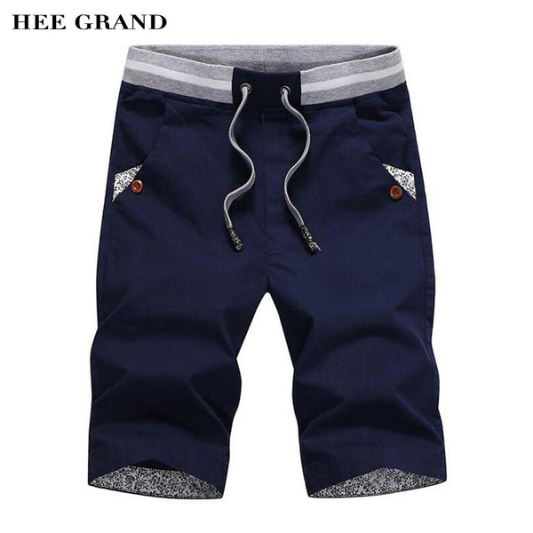 HEE GRAND Men's Shorts 2017 Summer Fashion New Arrival Casual Straight Shorts Knee Length Bermuda M-4XL Size 6 Colors MKD728 - Next New Fashion