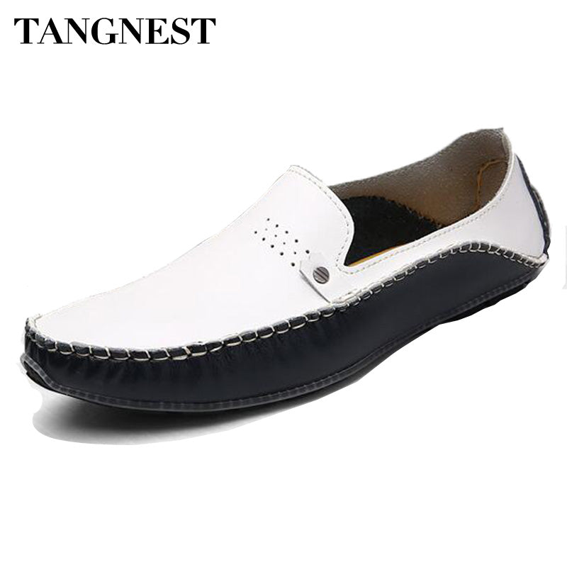 Tangnest New 2017 Men Casual Shoes Genuine Leather Men Slip-on Flats Luxury Brand Man Moccasins Loafers Driver Shoes Man XMR2524 - Next New Fashion