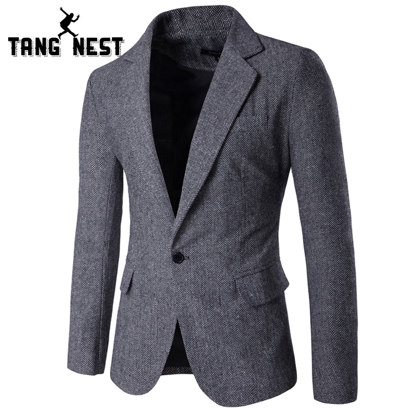 TANGNEST New Arrival Blazer Masculino Slim Fit Casual Single Button Men Blazers Hot Sale Comfortable Men Blazer 3 Colors MWX383 - Next New Fashion