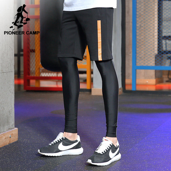 Pioneer Camp New bermuda shorts men brand clothing black simple summer shorts male quality fashion casual shorts ADK702156 - Next New Fashion