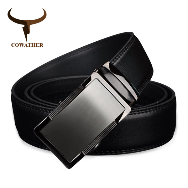 COWATHER 2017 luxury men`s genuine leather belts for men automatic alloy buckle better gifts business choice top quality - Next New Fashion