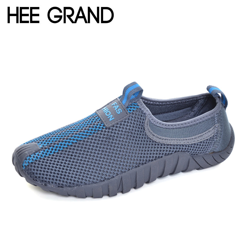 HEE GRAND Lovers Casual Shoes Man Breathable Slip On Loafers Mesh Shoes Unisex Platform Flats For Summer Size 35-44 XYP007 - Next New Fashion