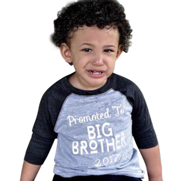 Children Enfant Boy Summer Clothing Kids Baby Boys Summer T-shirt Cotton Blouse Tops Print Big Brother Short Sleeve - Next New Fashion
