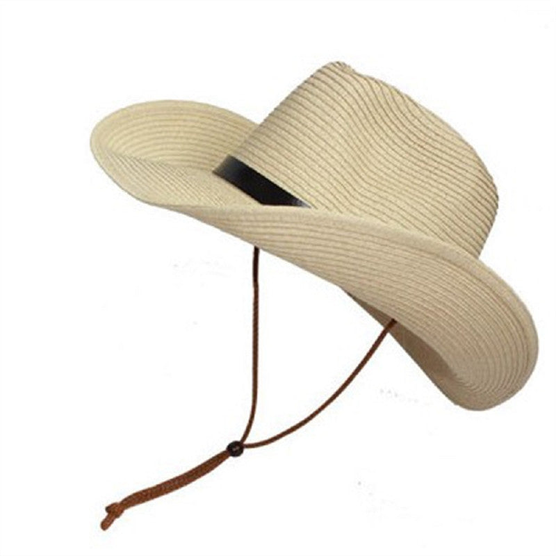 Men Wide Brim Hat Summer Beach Straw Cap Sun Floppy Foldable Hats for Adults - Next New Fashion