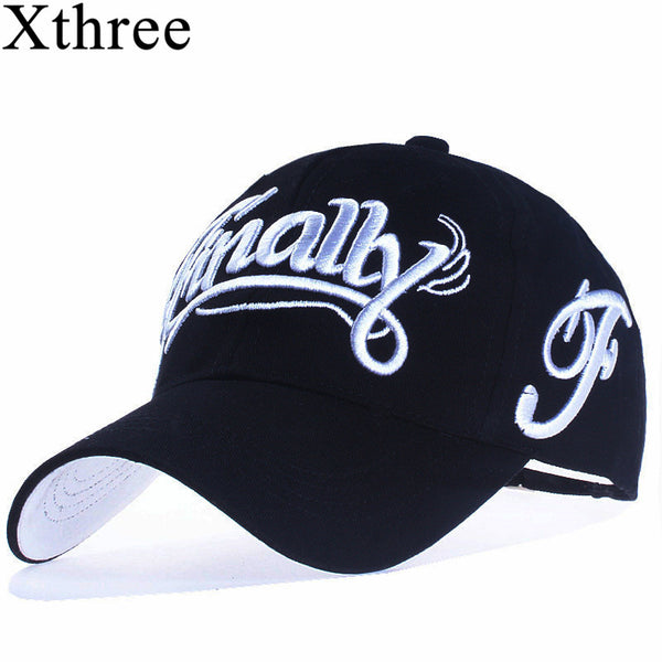[Xthree]100% cotton baseball cap women casual snapback hat for men casquette homme Letter embroidery gorras - Next New Fashion
