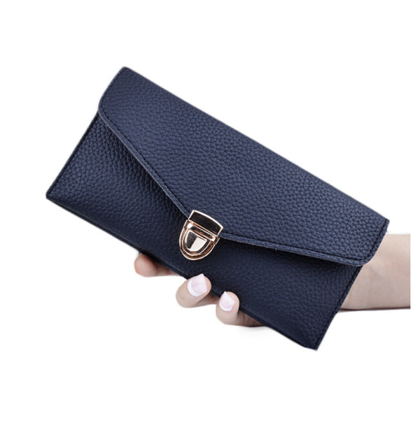 Women 's Long Section of Solid Color Fashion Wallet Female Hand Bags - Next New Fashion