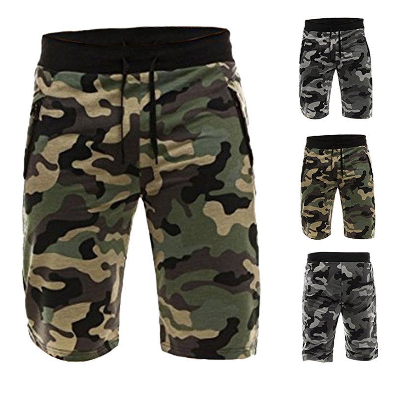 Camouflage Men's Shorts Polyester Loose Calf Length Sweatpants Male Joggers Workout Comfortable Mens Board Shorts Camo Bottom - Next New Fashion