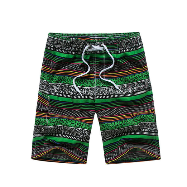 New Casual Shorts Men Hawaii Stripe Beach Shorts Male Slim Fit Plus Size Man Bermuda With Pockets Board Shorts 2018 Summer - Next New Fashion