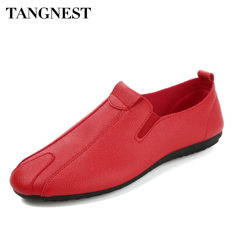 Tangnest 2018 Breathable Men Casual Shoes Soft Pu Leather Loafers Summer Men Dress Shoes Comfortable Flats Driving Shoes XMR2853 - Next New Fashion