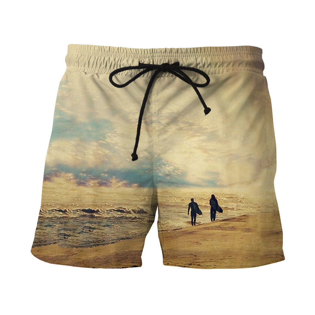 Men Fast Dry Beach Shorts Casual Surfing Swimming Trunks with Pockets - Next New Fashion