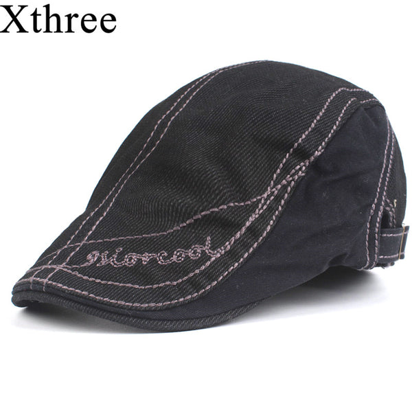 Xthree Fashion Men's newsboy Cap Cotton Berets casquette Hats for Men Visors Sun hat Gorras Planas Caps Adjustable - Next New Fashion
