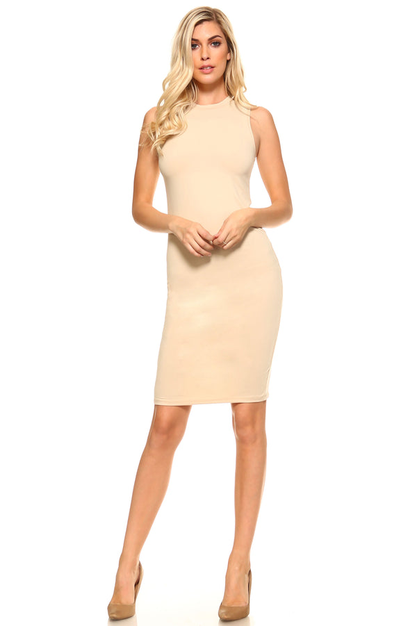 Women's High Neck Sleeveless Dress - Next New Fashion