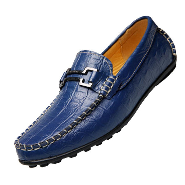 Hot Sale Big Size new men's Genuine Leather Men Moccasin Flats Slip On crocodile leather casual shoes driving loafer - Next New Fashion