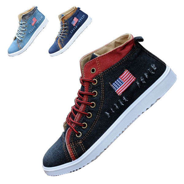 Men Shoes Low Canvas Denim Hollow Shoes Fashion Trend Casual Breathable Shoes British Designer-shoe Moccasin Men Lace Up - Next New Fashion