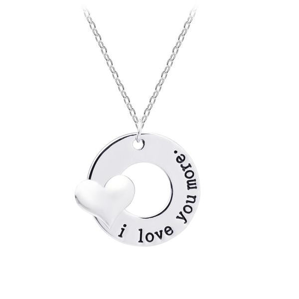 I Love You More - Pendant Necklace - Next New Fashion
