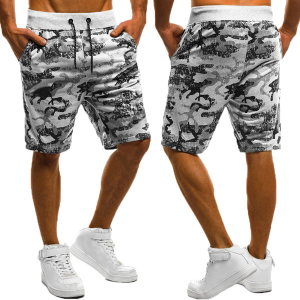 Camouflage Abstract Print Summer Casual Shorts Men Beach Sporting Joggers Workouts Drawstring Knee-Length Boardshorts Male - Next New Fashion