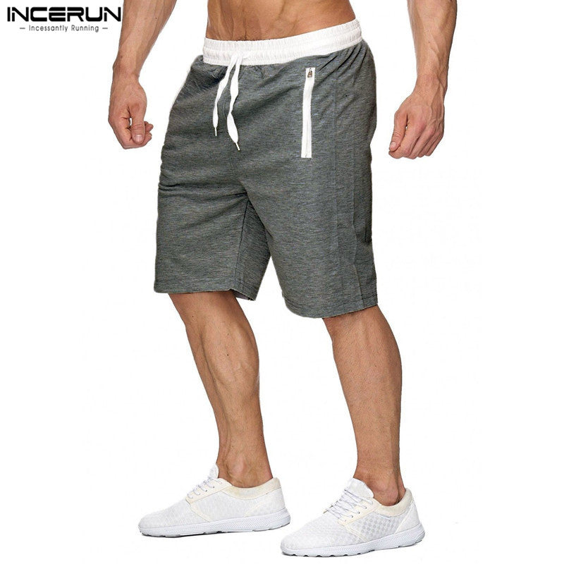 Summer Beach Shorts Men Casual Bermuda Masculina Short Masculino Solid  Zipper Pockets Men Shorts Sweatpants Homme Male Big Size - Next New Fashion