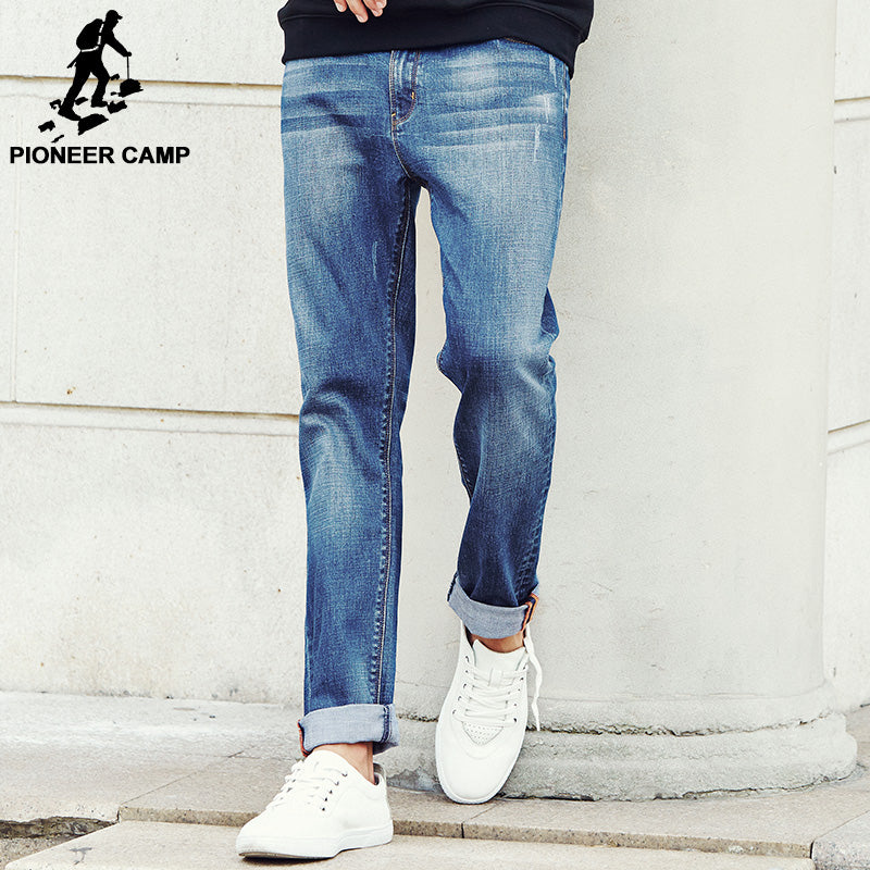 Pioneer Camp New Autumn Famous Brand Men Slim Jeans Men Street Cotton Jeans Homme Soft Pencil Pants Long Jeans Trousers 611009 - Next New Fashion