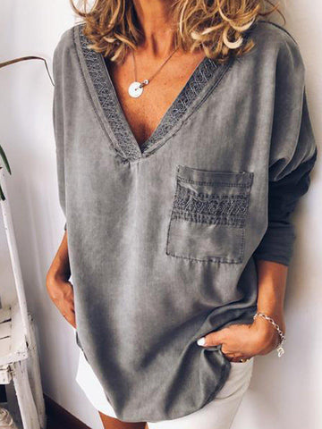 Women Vintage T-Shirt Tunic