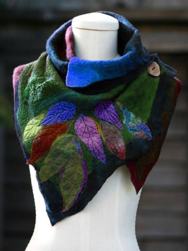 Fashion Boho Cotton Scarf Leaf Pattern