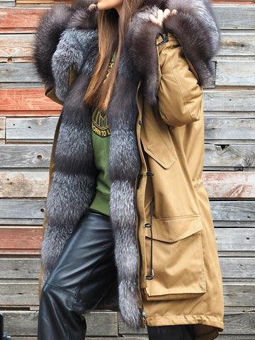 Women Faux Fur Coat Winter Warm Fluffy Coat Plus Size Overcoat-Top-Wotoba-Yellow-S-Wotoba