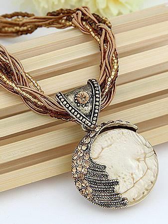 Daily/Beach Women's Clothes Chain Boho Tassel Long Necklace-Accessories-Wotoba-White-Wotoba