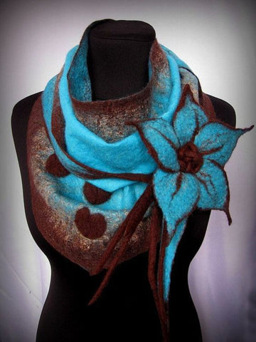 Cotton Boho Neckwarmers Scarf Flower-Accessories-Wotoba-Blue-One-size-Wotoba