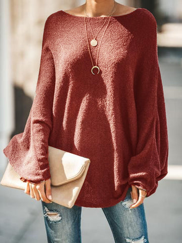 Women Casual Tops Round Neck Long Sleeve Plus Size Shirts