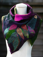 Brown Abstract Shift Casual Cotton Scarves & Shawls-ACC-Wotoba-Purple-One-size-Wotoba