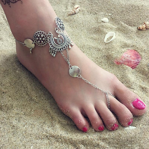 Women Fashion Carved Anklets-Accessories-Wotoba-As Picture-One-size-Wotoba