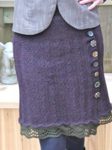 Purple Casual Knitted Skirts-dress-Wotoba-Purple-S-Wotoba
