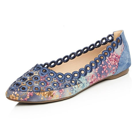 Sweet Date Hollow-out Summer Flats-Shoe-Wotoba-Blue-34-Wotoba