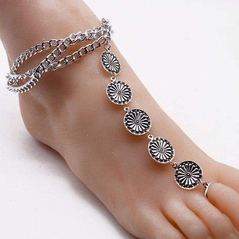Boho Casual Vintage Beach Holiday Daily Anklets