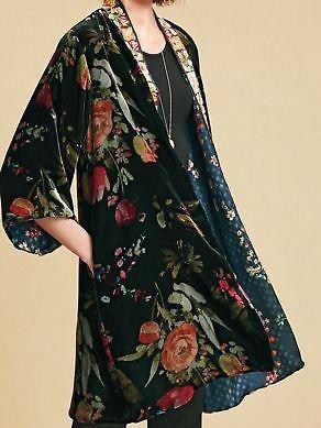 Women Coat Boho Floral Plus size Velvet-Top-Wotoba-Black-S-Wotoba