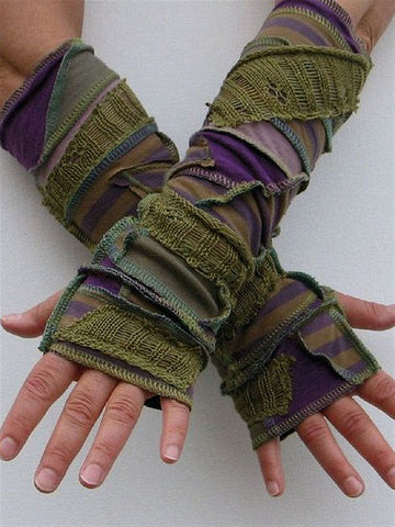 Autumn Winter Casual Basic Knitted Gloves-Accessories-Wotoba-Green-One-size-Wotoba