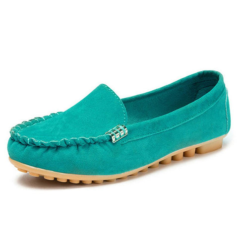 Flat Portable Soft Loafers For Women-Shoe-Wotoba-Aqua-35-Wotoba