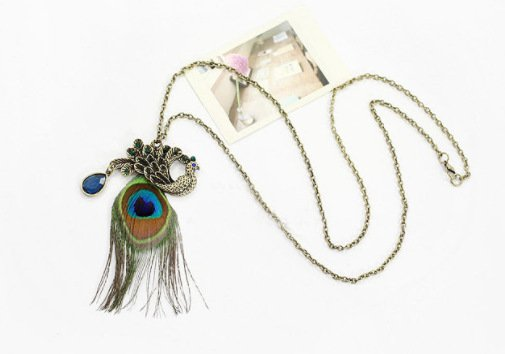 Bohemian Peacock Sweater Necklace-ACC-Wotoba-As Picture-One-size-Wotoba